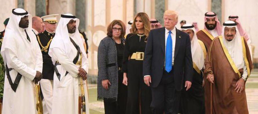 Trump se reconcilia con el islam en su visita a Arabia Saudí