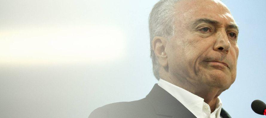Los abogados brasileños presentan una acción de impeachmentcontra Temer