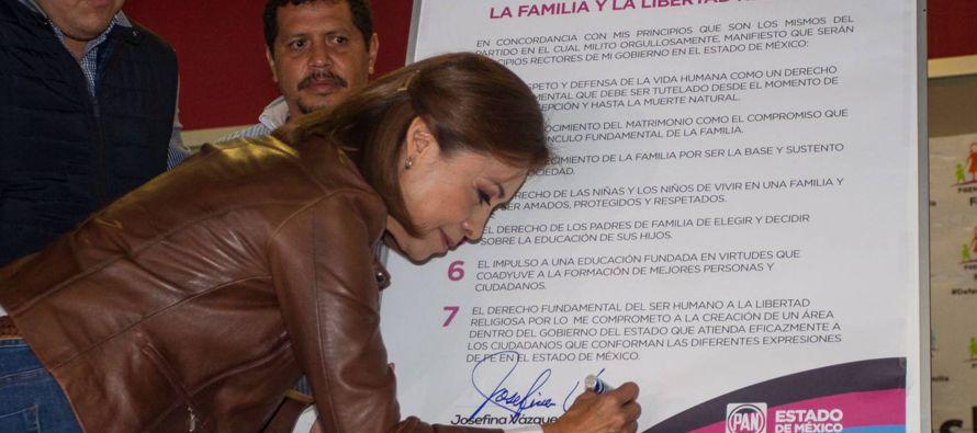 El PRI y el PAN se disputan el voto conservador en el Estado de México