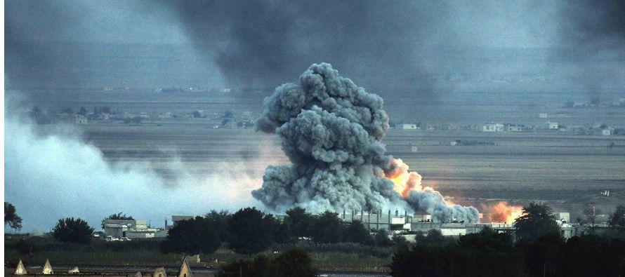 Washington dijo que el hecho ocurrió después que el caza lanzara bombas contra las fuerzas rebeldes...