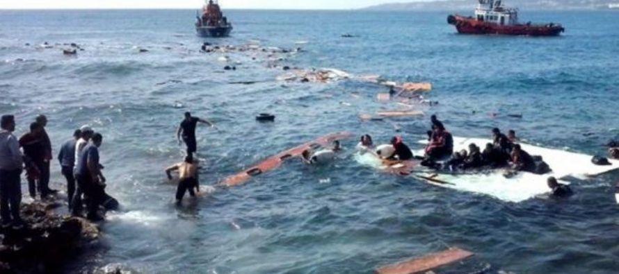 Una fragata de la Armada española fue enviada en ayuda de dos embarcaciones de goma con migrantes...