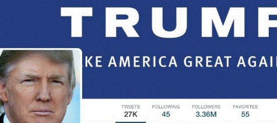 Como Trump suele usar Twitter para comentar sus políticas, la cuenta califica como un foro...