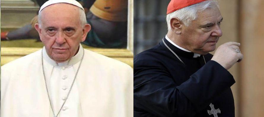 Al concluir su mandato de cinco años, el Papa decidió no renovarlo en el cargo de...