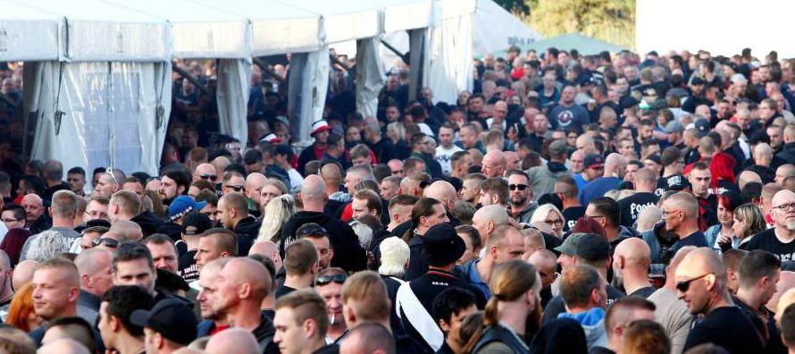 El concierto despertó la rabia entre la población de Themar, que fracasó en su...