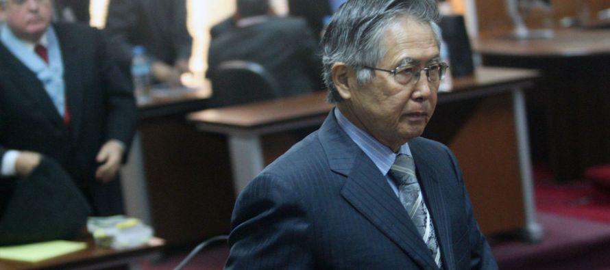 Fujimori, de 78 años y que cumple una condena de 25 años de prisión,...