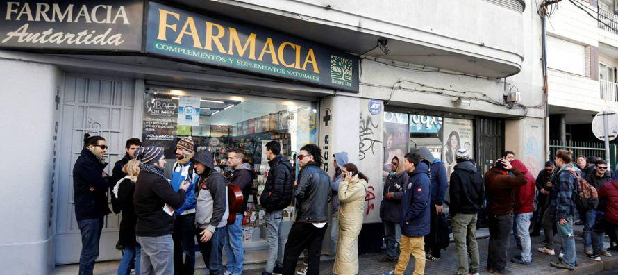 La marihuana se agota el primer día de venta en las farmacias de Montevideo