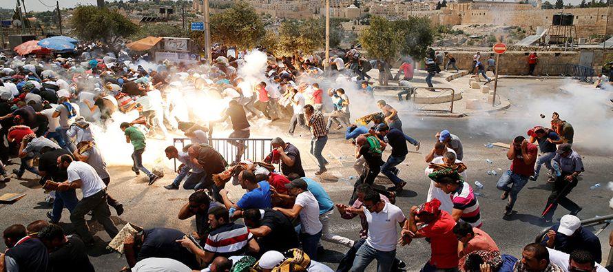 Desde el domingo se han producido enfrentamientos entre palestinos y la policía...