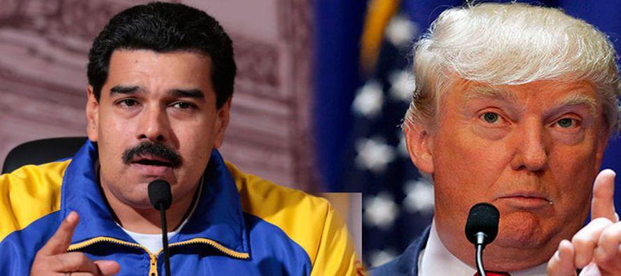 Trump ha anunciado que impondría severas sanciones económicas a Venezuela si Maduro...