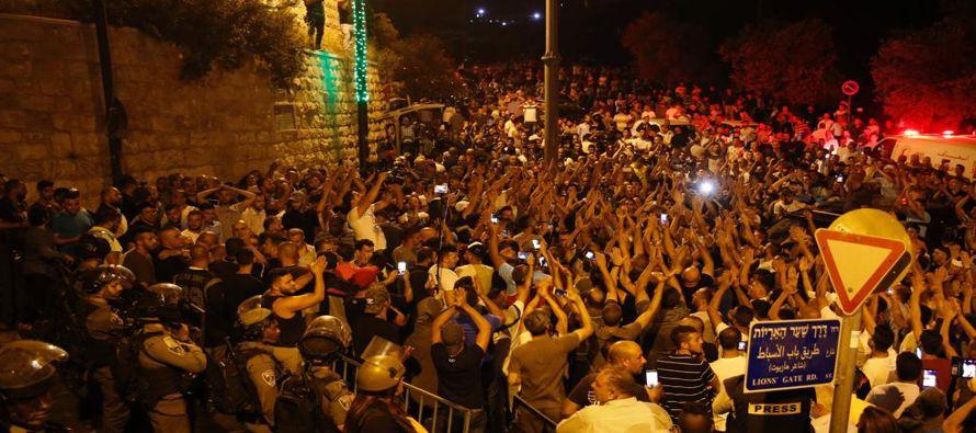 Israel retiró todas las medidas de seguridad que había instalado tras un esfuerzo...