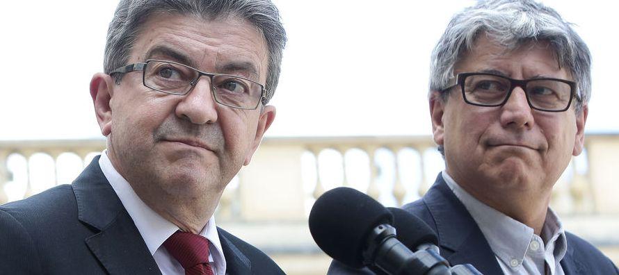 El líder de Francia Insumisa, Jean-Luc Mélenchon, experimentó un aumento de su...