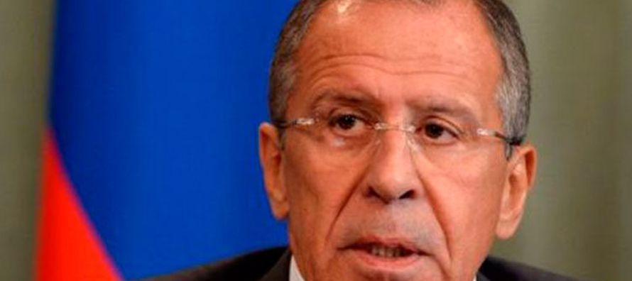 Lavrov no hizo referencia a las declaraciones más recientes de Trump sobre que las opciones...