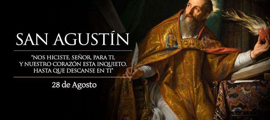 Memoria de san Agustín, obispo y doctor eximio de la Iglesia, el cual, después de una...