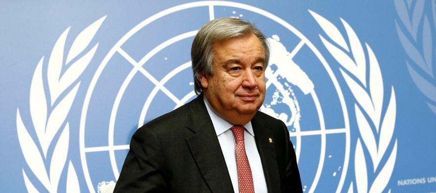 """Guterres también afirmó que le """"sorprendió hace algunos años..."""