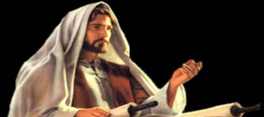 Enrollando el volumen lo devolvió al ministro, y se sentó. En la sinagoga todos los...