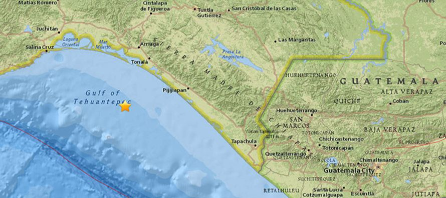 En este mismo golfo se localizó el epicentro del fuerte sismo de 8,2 que sacudió a...