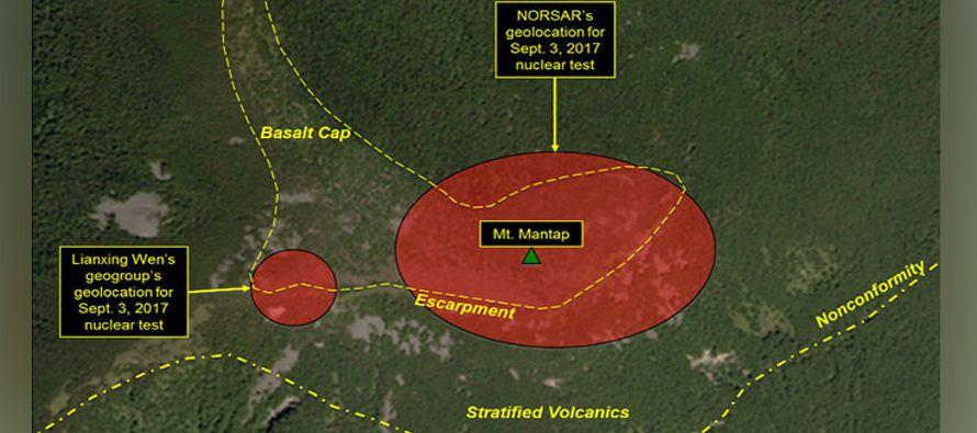 A pocos días de la detonación subterránea de una bomba de hidrógeno que...