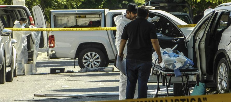 Un enfrentamiento entre militares y presuntos criminales en el violento estado de Guerrero, en el...