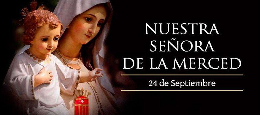 San Pedro Nolasco, inspirado por la Santísima Virgen, funda una orden dedicada a la merced...