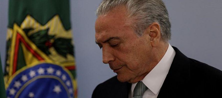 El Congreso brasileño recibió la denuncia de la Procuraduría que acusó...