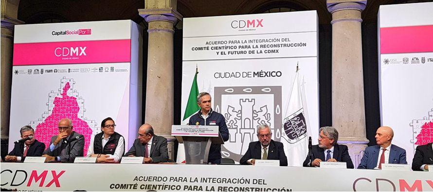Un Comité Científico para la Reconstrucción y Futuro de la Ciudad de...