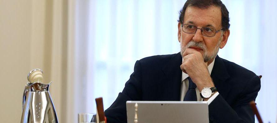Rajoy compareció hoy en el Congreso para dar su punto de vista sobre la situación en...