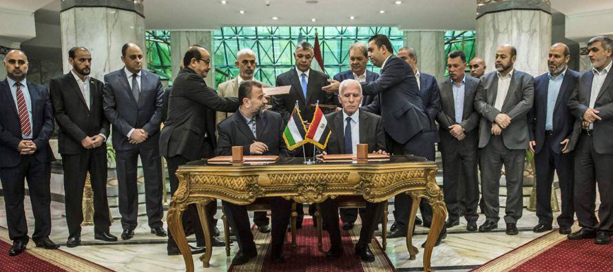Los firmantes hicieron hincapié en que las diferentes facciones palestinas están...
