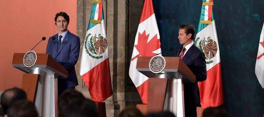 El presidente mexicano Enrique Peña Nieto dijo tras reunirse con Trudeau que está de...
