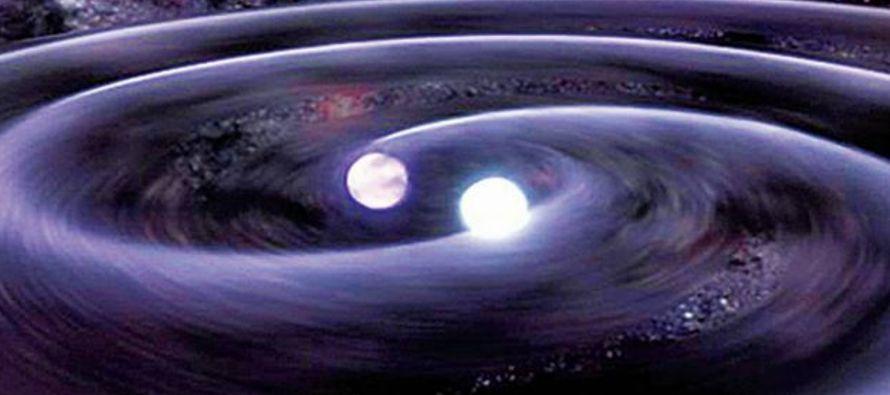 Los científicos observaron por primera vez la fusión de dos estrellas de neutrones,...