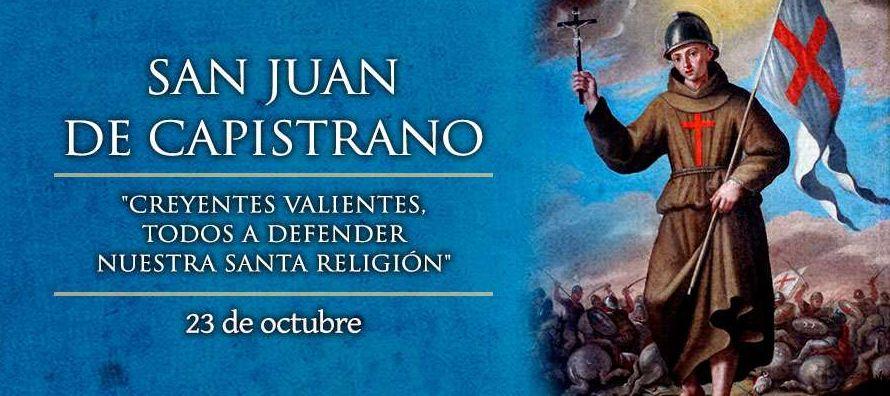 Nació Juan el 24 de octubre de 1386 en Capistrano, L'Áquila, Italia....