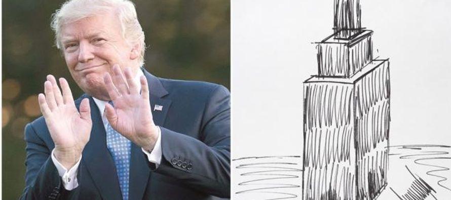 No es la primera vez que un bosquejo de Trump se vende por una gran cifra: un croquis del horizonte...