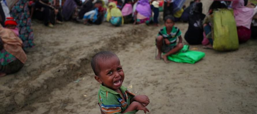 """""""Las tasas de malnutrición entre los menores en el estado de Rakhine (noroeste de..."""