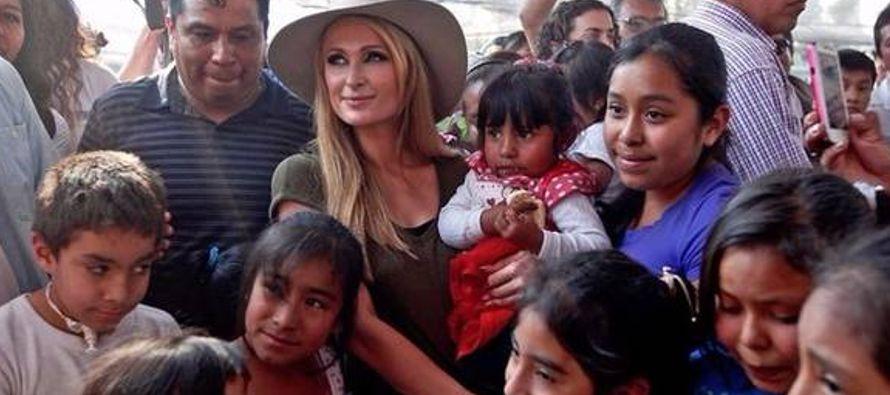 Paris no descartó regresar a México para ayudar a más hogares y escuchó...