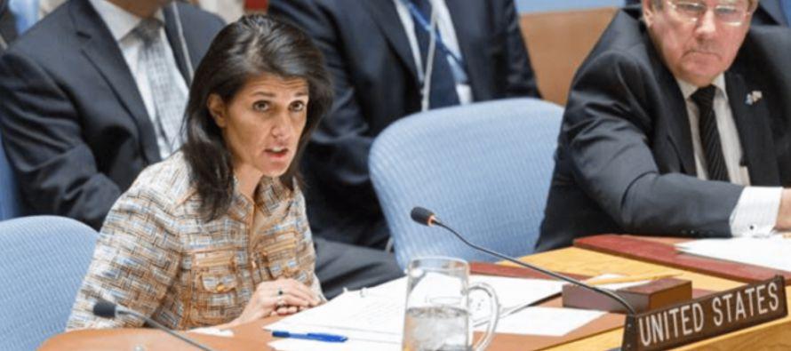 Así lo señaló la embajadora estadounidense ante la ONU, Nikki Haley, en una...