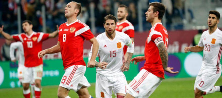 España abrió el marcador a los 9 minutos con un cabezazo de Jordi Alba y...