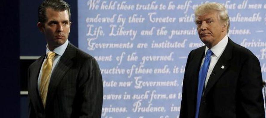 WikiLeaks dio información a Donald Trump junior acerca de las contraseñas para...