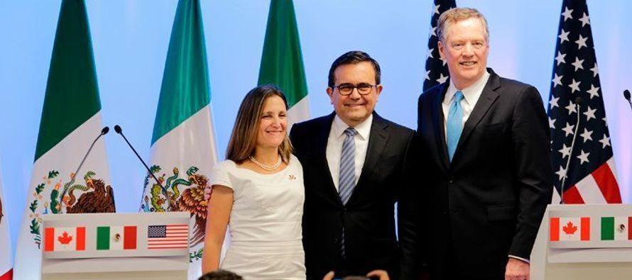 """""""México es más grande que el TLCAN"""", afirmó por ejemplo el canciller..."""