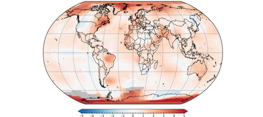 Octubre de 2017 fue el segundo más cálido en 137 años, dice la NASA
