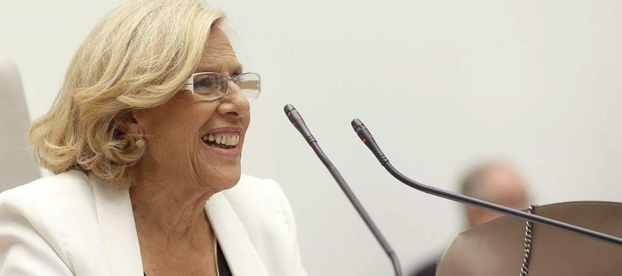 La alcaldesa de Madrid, Manuela Carmena, firmará un acuerdo con el jefe de Gobierno de...