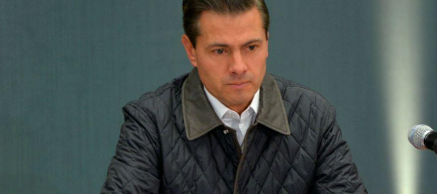 El sondeo, correspondiente al trimestre número 20 del mandato de Enrique Peña Nieto...