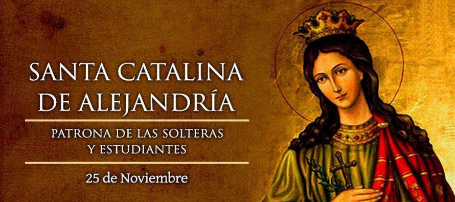 Santa Catalina, mártir, que, según la tradición, fue una virgen de...