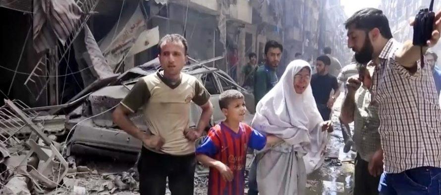 Un total de 24.229 civiles han perecido en bombardeos del Ejército sirio, 6.328 en ataques...