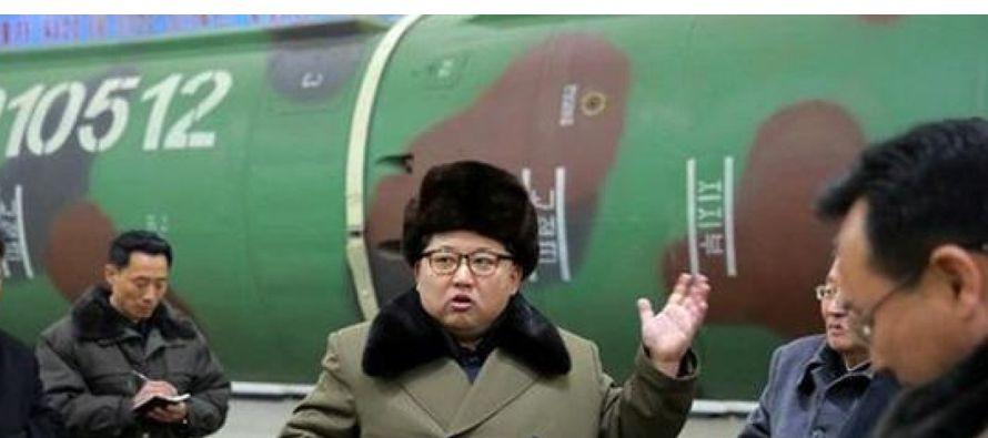 Corea del Norte advirtió hoy de que un bloqueo marítimo a su país sería...