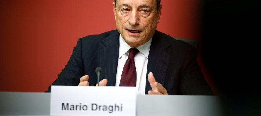 """""""Es un gran día"""", comentó en una conferencia de prensa Mario Draghi, el..."""