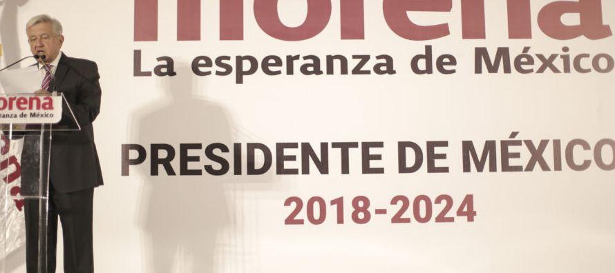 Esta es la primera vez en la historia reciente de México que un político anuncia...