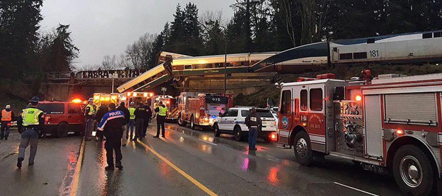 El descarrilamiento de un tren en el estado de Washington (noroeste de EU) dejó hoy...