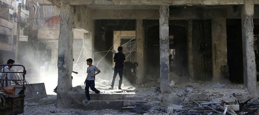 La guerra en Siria estuvo precedida por manifestaciones pacíficas que el régimen...