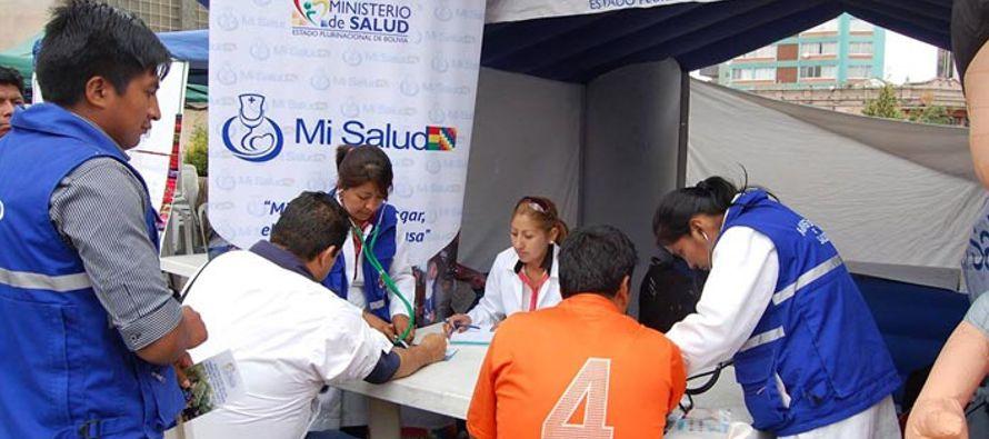 Uno de los puntos más equipados está situado en la plaza Villarroel de La Paz, donde...