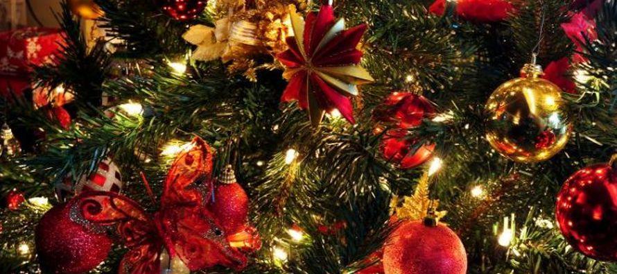 Aún en los hogares más modestos, hay siempre luces y ornamentos en el árbol,...