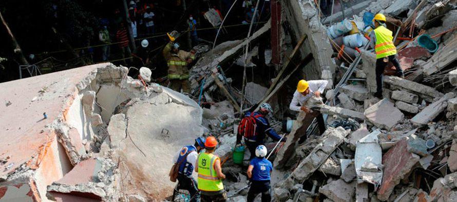 El 19 de septiembre un terremoto de magnitud 7,1 impactó en el centro y sur de México...