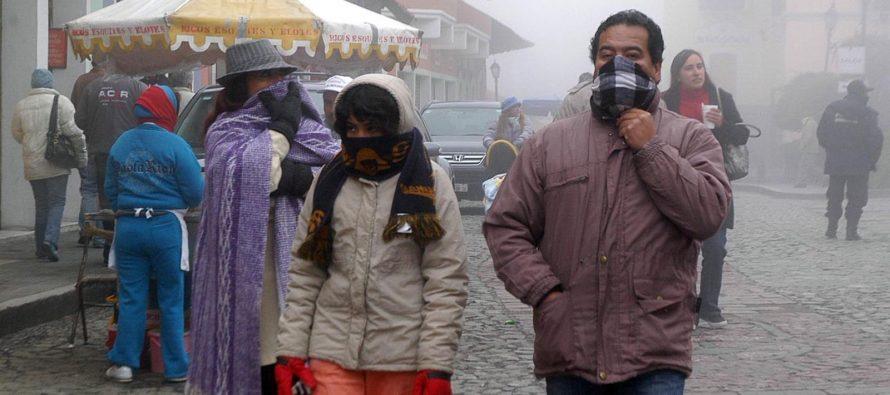 Un frente frío causará heladas en al menos diez estados mexicanos en las...